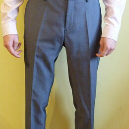 Брюки - Серо-голубые брюки ZARA, 0