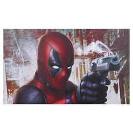 """Картины, постеры, гобелены, панно - Постер """"Дэдпул с пистолетом"""" 100х60 см, 0"""
