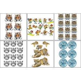 Декупаж - Набор декупажных карт 6 шт  'Тигры', 0