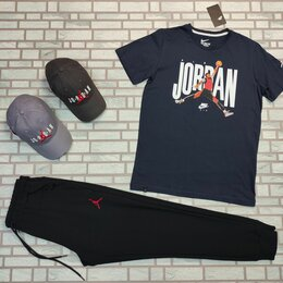 Спортивные костюмы - Комплект с принтом Jordan темно сини, 0