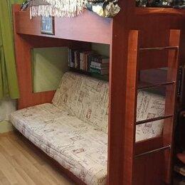 Кровати - Двухъярусная кровать с раскладным диваном, 0