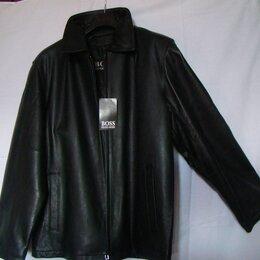 Куртки - HUGO BOSS мужская куртка кожаная, 0
