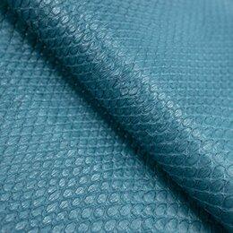 Рукоделие, поделки и сопутствующие товары - Кожа питона цвет бирюза, 0