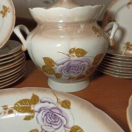 Посуда - Сервиз  столовый золотая роза, 0