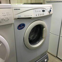 Стиральные машины - Узкая стиральная машина Samsung. 3,5 кг. С гарантией и доставкой., 0