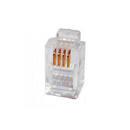 Аксессуары для сетевого оборудования - Телефонный коннектор для розетки TWT PL12-6P4C/100, 0