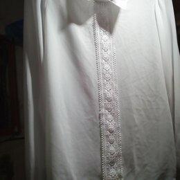Рубашки и блузы - Белая кофточка на девочку 13/14 школьная форма, 0
