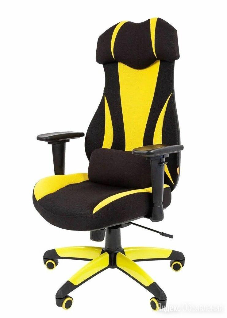 Кресло геймерское CHAIRMAN GAME 14, экопремиум черный/желтый по цене 17720₽ - Компьютерные кресла, фото 0