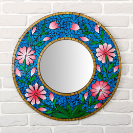 """Зеркала - Панно зеркальное """"Цветы"""" 60х1х60 см, 0"""