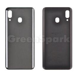 Корпусные детали - Задняя крышка для Samsung A205F Galaxy A20 (черный), 0