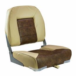 Походная мебель - Кресло складное мягкое, обивка винил, цвет песочный/коричневый, Marine Rocket, 0