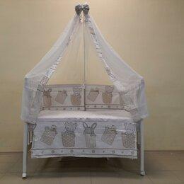 Постельное белье - Набор в кроватку 7 предметов Кармашки. /Новый/., 0