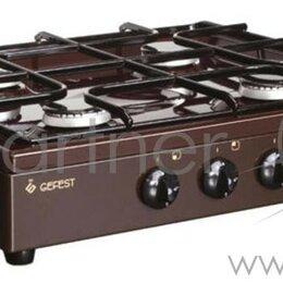 Плиты и варочные панели - Газовая плитка Gefest ПГ 900 К17 коричневый, 0