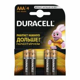 Батарейки - Элемент питания Duracell Basic LR03-4BL AAA 1.5V  1/4, 0