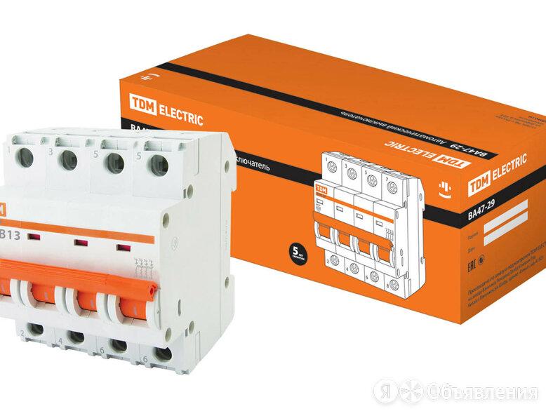 Выключатель автоматический ВА47-29 4P 13А 4.5кА хар-ка В TDM по цене 817₽ - Защитная автоматика, фото 0