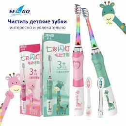 Гигиена полости рта - Детская Зубная Щётка + 3 Насадки LED IPX7, 0