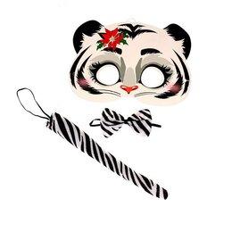 Карнавальные и театральные костюмы - Карнавальный набор «Белый тигрёнок» (маска+ бабочка+ хвостик), 0