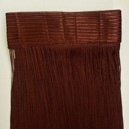 Шторы - 1мм Нитяная штора Nitiopt коричневая №8, на кулиске плотная, 0