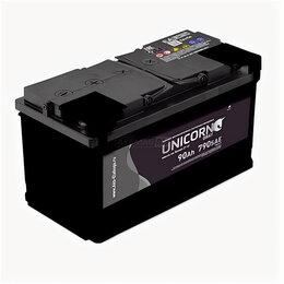 Аккумуляторы и комплектующие - Аккумулятор Unicorn Grey 90 Ач 720А обратная полярность, 0