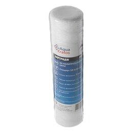 Прочие аксессуары - Картридж сменный AquaKratos АКv-112, PS-10, нитяной, для холодной воды, 5 мкм, 0