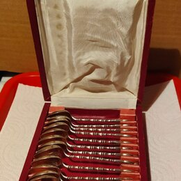 Декоративная посуда - Набор кофейных ложек. 12 шт. Серебро 875 пр,  вес 152 гр. Вьетнам, середина ХХ, 0