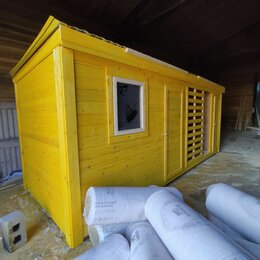 Готовые строения - Бытовка 6х2.30 с дровником А-696, 0