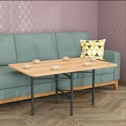 Столы и столики - Стол-книжка 600х168х625 дуб крафт золотой/черный матовый, 0