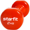 Гантель виниловая Core DB-101, 2 кг, оранжевый, Starfit по цене 739₽ - Защита и экипировка, фото 1