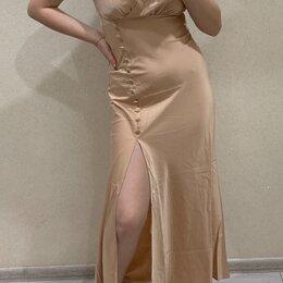 Платья - Бежевое вечернее платье, 0