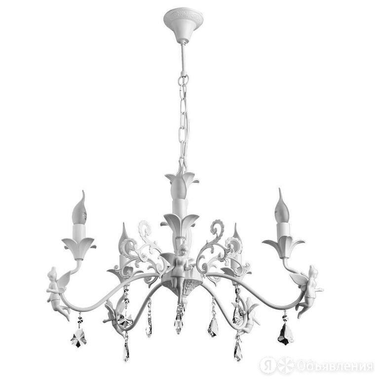 Подвесная люстра Arte Lamp Angelina A5349LM-5WH Белая по цене 14020₽ - Люстры и потолочные светильники, фото 0