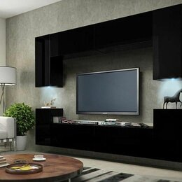 Шкафы, стенки, гарнитуры - Гостиная подвесная 9 МДФ, 0