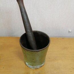 Аксессуары для готовки - Ступка чугунная со стаканом и пестиком литтех, 0