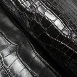 Рукоделие, поделки и сопутствующие товары - Целая шкура крокодила цвет тёмно коричневый, 0