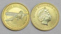 Монеты - Тувалу, 1 доллар 2014г., 100 лет первой…, 0