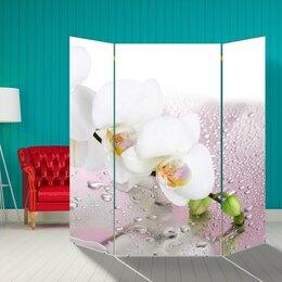 """Ширмы - Ширма """"Орхидея и капли воды"""", 160 × 160 см, 0"""