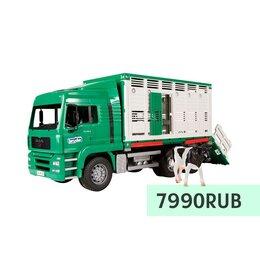 Транспортировка, переноски - Фургон Bruder MAN для перевозки животных с коровой, 0