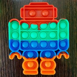Игрушки-антистресс - Пупырка Pop it (поп ит) Робот, 0