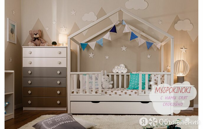 Детская кроватка из массива по цене 12000₽ - Кроватки, фото 0