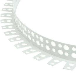 Отделочный профиль, уголки - Уголок арочный перфорированный пвх 25х25х3000 мм, 0