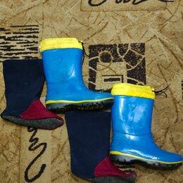 Сапоги, полусапоги - Резиновые сапоги с утеплённым носком 35 размер, 0