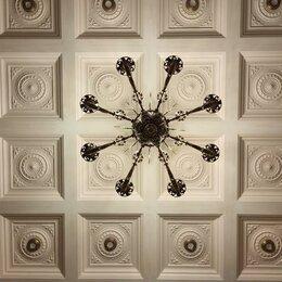 """Потолки и комплектующие - Потолочная 3d панель (кессон) """"Лантана"""", гипс, 0"""