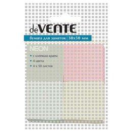 Бумага и пленка - deVENTE Бумага с клеевым краем deVENTE 40х50мм 4цвета, 0