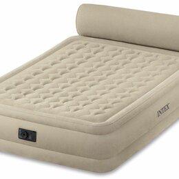 Надувная мебель - Двуспальная надувная кровать intex, 0