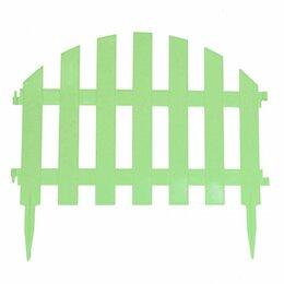 Заборчики, сетки и бордюрные ленты - забор декоративный уютный сад набор 7 секций салатовый, 0