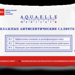 Влажные салфетки - Влажные антибактериальные салфетки AQUAELLE Medical 15 шт, 0