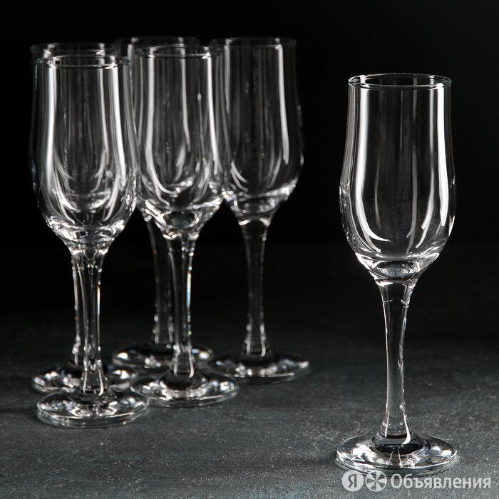 Набор бокалов для шампанского Tulipe, 190 мл, 6 шт по цене 1030₽ - Бокалы и стаканы, фото 0