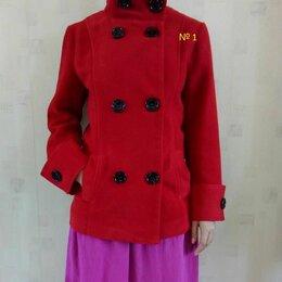 Пальто - Полупальто красное и черное, 0