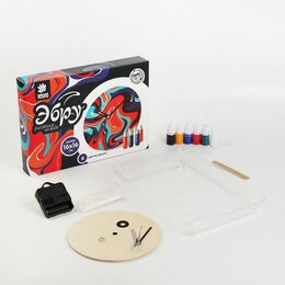 Аэрозольная краска - Школа талантов Рисование на воде: эбру «Круглые часы», 0