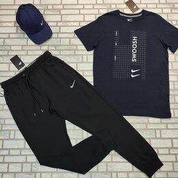 Спортивные костюмы - Спортивный комплект футболка и штаны nike  темно синий, 0