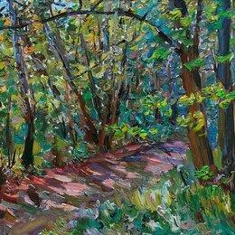 """Картины, постеры, гобелены, панно - картина маслом """"Летний день в лесу"""", 0"""